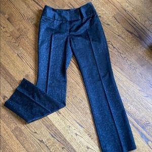 Context black brocade pants